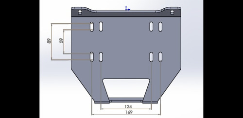 base de guincho para utv's polaris rzr900s / xp1000