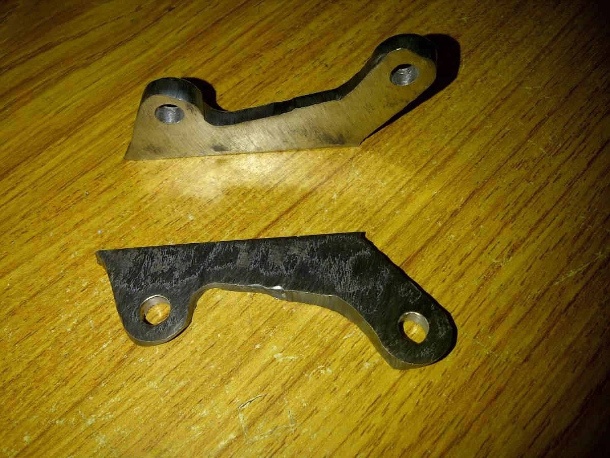 Base de hierro para soldar al cuadro para freno de disco - Como soldar hierro ...