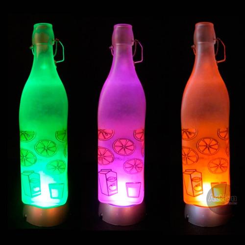 base de led giratória para garrafas - 110v