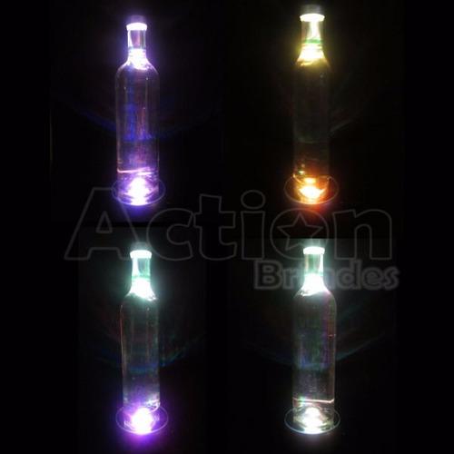 base de led giratória para garrafas e cristais - 220v
