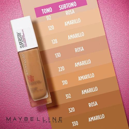 base de maquillaje larga duración superstay full coverage