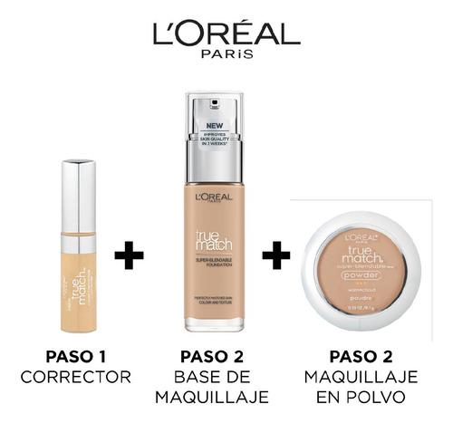base de maquillaje liquida true match, loreal