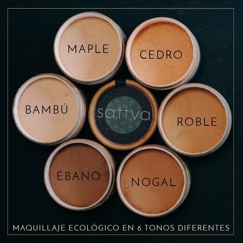 base de maquillaje natural en polvo 100% orgánico.