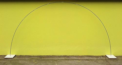 base de mdf 25mm com vareta dobrável para arco de balões