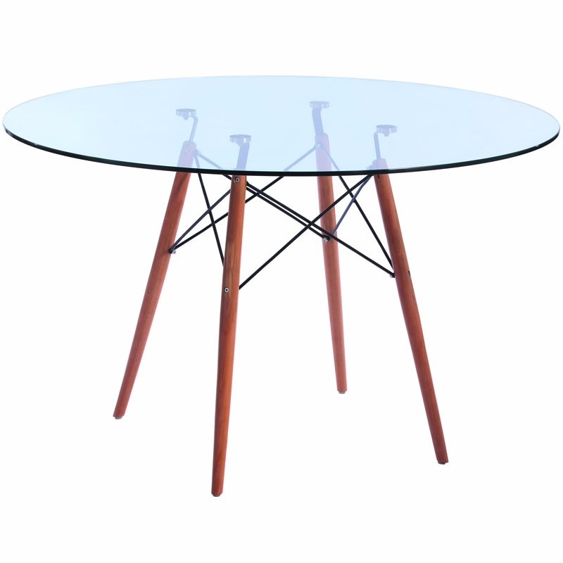 Base de mesa charles eames wood dsw a o preto s ventosas for Table a manger transparente