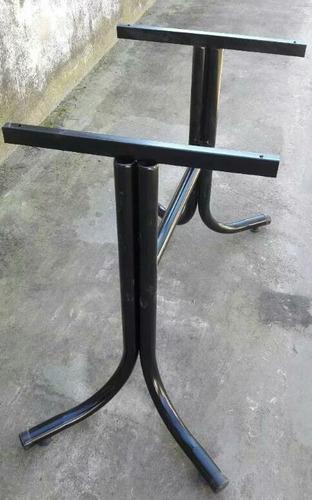 base de mesa de caño.