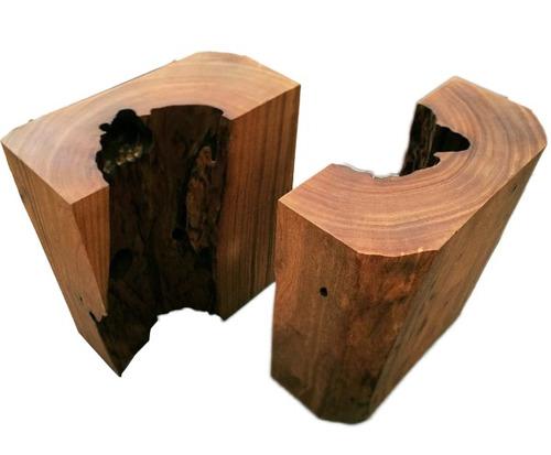 base de mesa jantar - linhas naturais tronco - contemporâneo