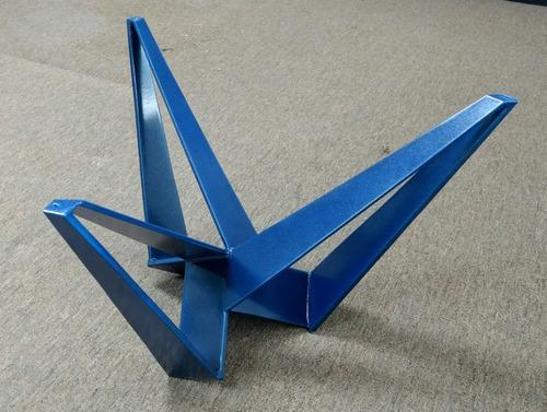 base de mesa moderna pintura electrostática azul dorothy