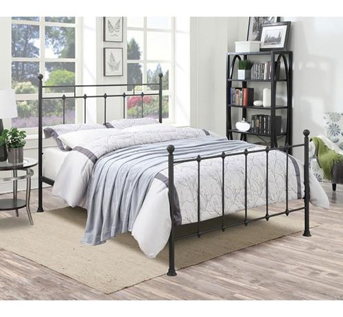 base de metal para cama queen size acero con diseño clásico