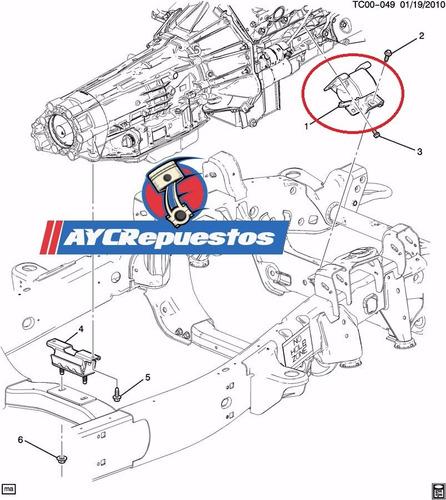base de motor silverado c3500 hd años 2011-15 original