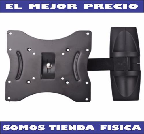base de pared tv plasma, led 14 a 40 brazo movil rc-040-1