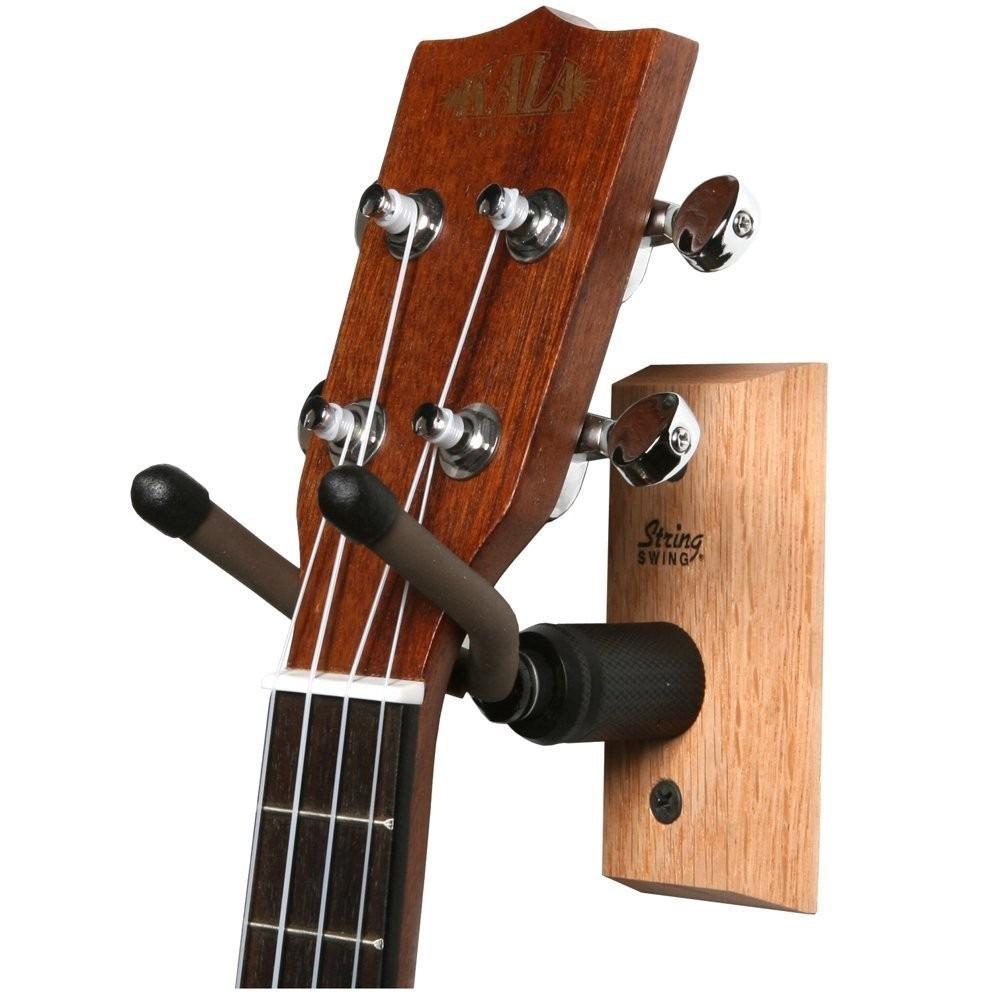 Base de pared ukulele mandolina soporte en for Porte ukulele