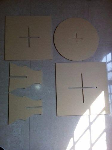 base de ponquesitos de 3 pisos circular y cuadrada