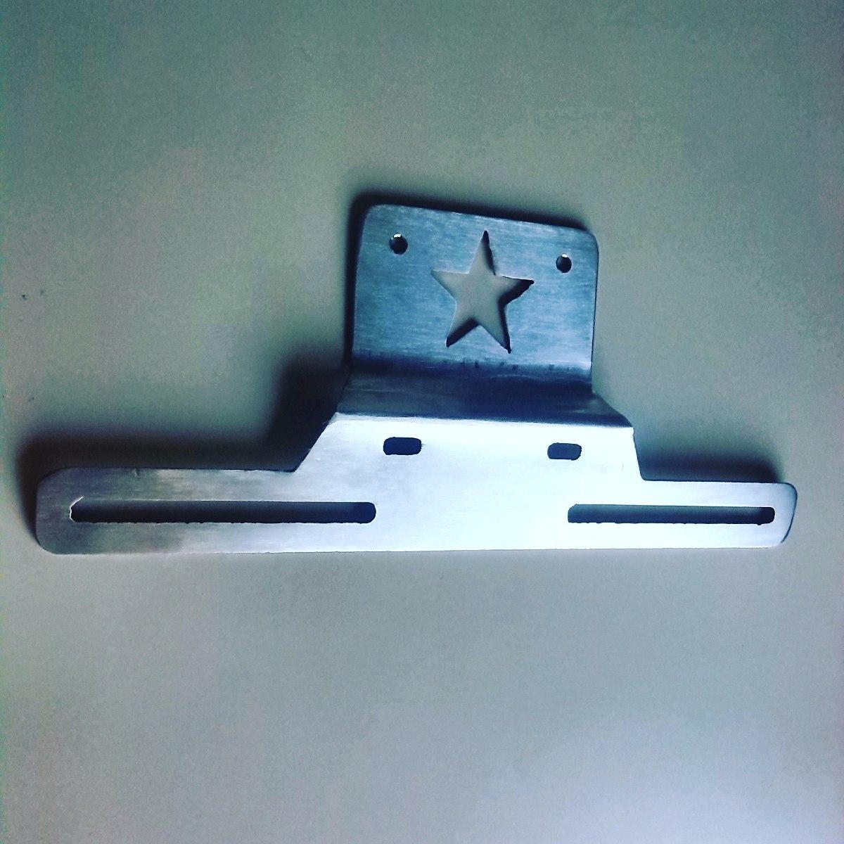 Base de porta placa rockstar acero inoxidable cnc tuning - Placa de acero inoxidable ...