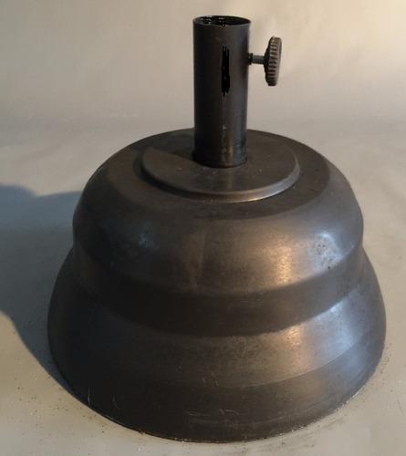 base de sombrilla de 10 kg de caño  38ø color negra