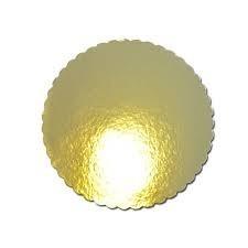 base de torta redonda dorada fiesta eventos cumpleaños