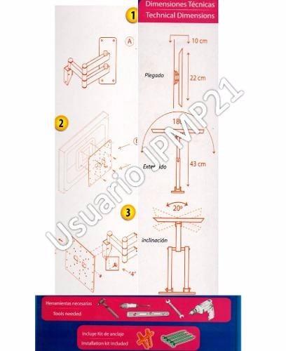 base de tv 32pulgadas con brazo extensor lcd 14 a 42 plasma
