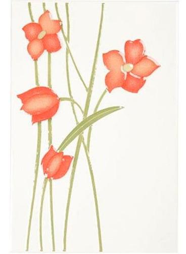 base decorada azalea flor beige blanco 20.5*30.5 * ue 16 uni