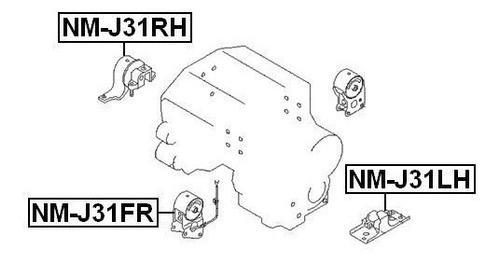 base derecha motor nissan quest altima murano 3.5 febest