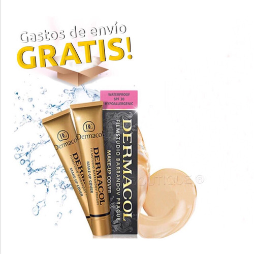 base dermacol make-up envio gratis todos disponibles