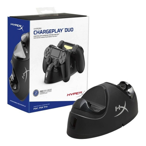 base doble hyperx - cargador para joystick ps4 hx-cpdu-c