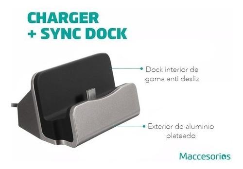 base dock cargador usb tipo c s8 nexus xiaomi mate 9 pixel