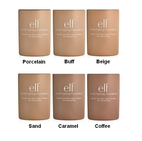 elf acne fighting foundation sand