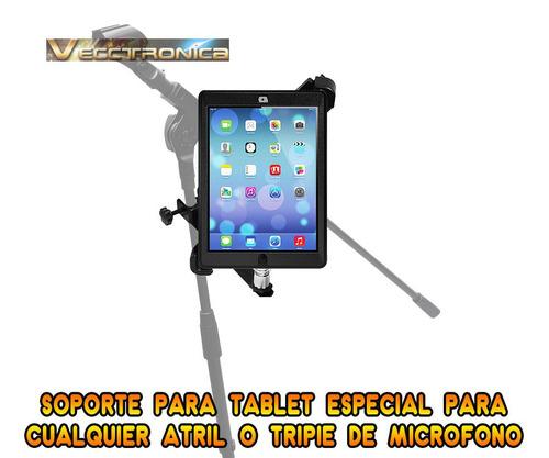 base empotrable para pedestal de microfono p/poner tu tablet