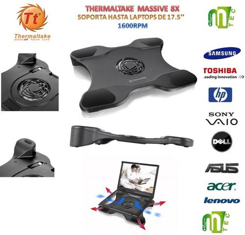 base enfriador cooler laptop thermaltake massive 8x