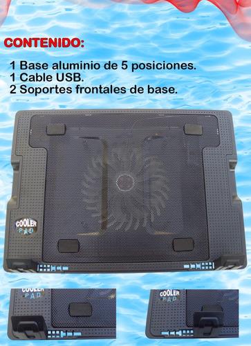 base enfriadora laptop metalica cinco posiciones