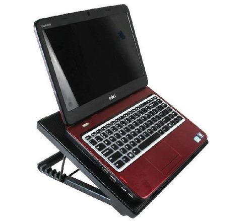 base enfriadora laptop netbook metalica cinco posiciones