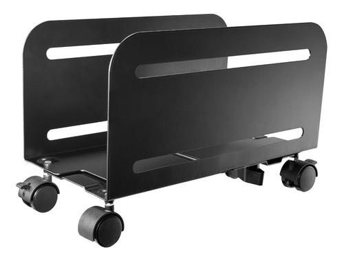 base ergonómica con ruedas para cpu, ajustable, 119-209mm, 1