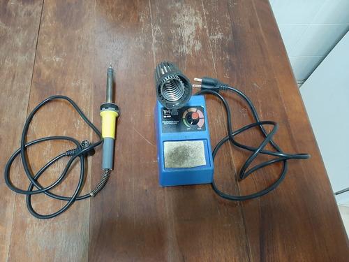 base estação de ferro 110v toyo ts-900+ferro solda queimado
