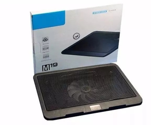 base fan cooler  laptop modelo moderno m19 slim consolas