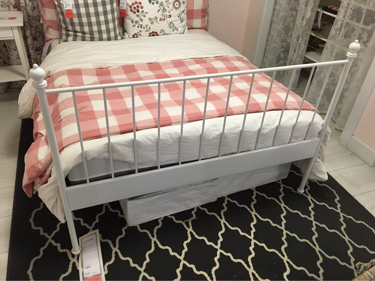 Base fierro cama matrimonial ikea 6 en mercado for Base cama matrimonial