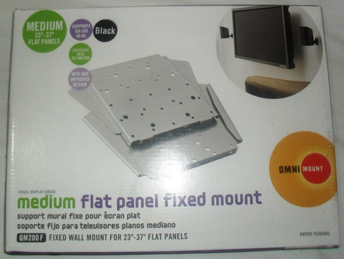 base fija para tv plano led lcd  23 27 32 37 marca omnimount