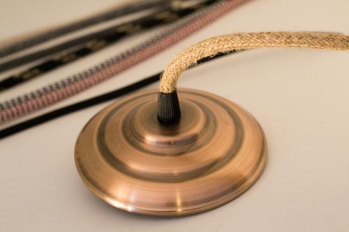 base floron cobre bronce completo vintage lámpara colgante