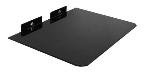base flotante soporte pared vidrio templado dvd / blu-ray