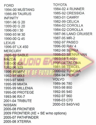 base frente estereo  toyota 4 runner 1984 a 2002 ho0820