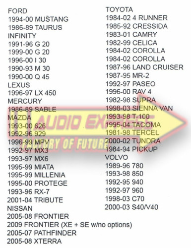 base frente estereo  toyota tacoma 1995 a 2004   hf0820