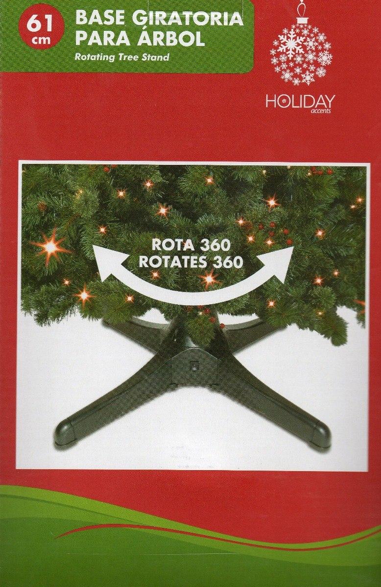 Base giratoria el ctrica para rbol navidad pino - Arbol artificial de navidad ...