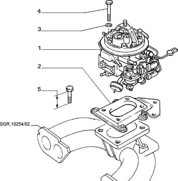 Base Goma Carburador Fiat Uno 70s 7684518