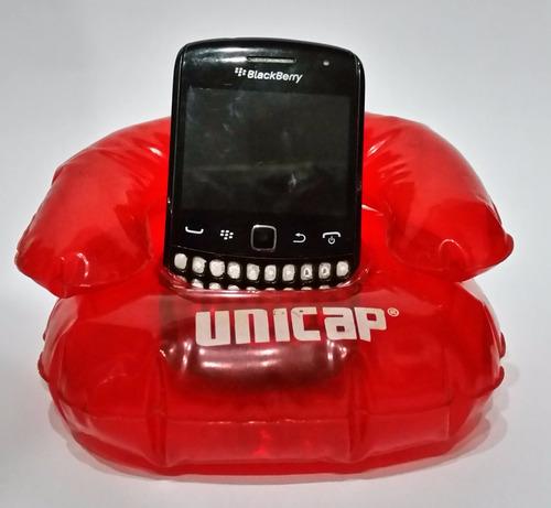 base inflable porta celular pequeño, usada