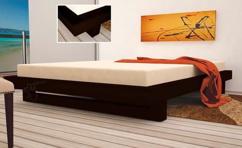 base king size choco moderna pata grapa madera recamara cama