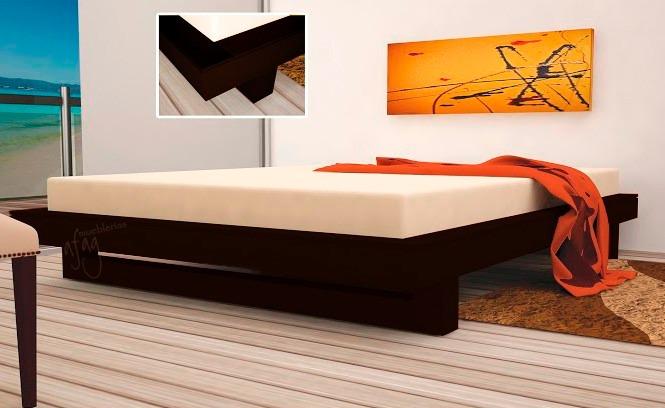 Base king size moderna tabaco pata de grapa recamara cama for Bases para recamaras modernas