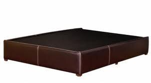 base king size tacto piel chocolate minimalista 4 000