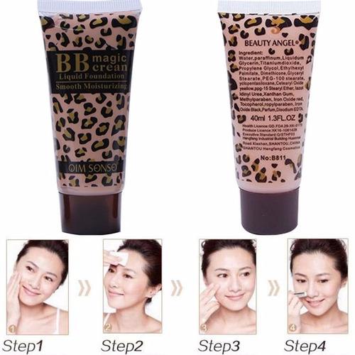 base líquida de maquillaje bb crema mágica hidratante suave