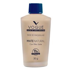 Base Liquida De Maquillaje Cobertura Mate Natural Vogue
