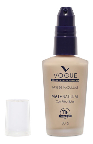 base liquida de maquillaje cobertura mate natural vogue