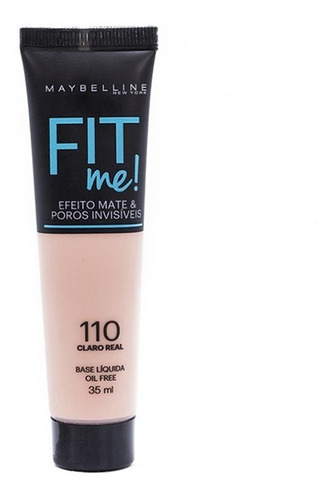 base líquida fit me maybelline - 110 claro real